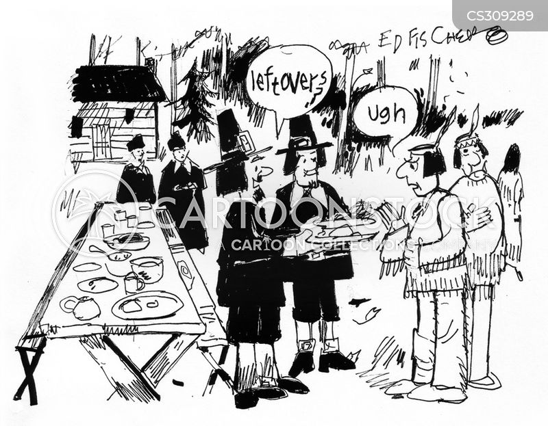 thanksgiving celebrations cartoon