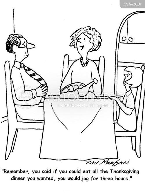 thanksgiving lunch cartoon