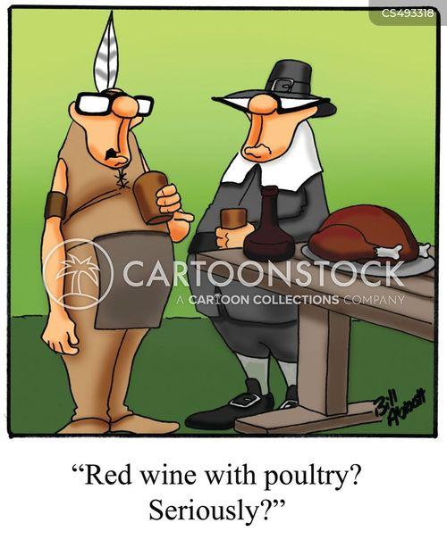 thanksgiving wine cartoon