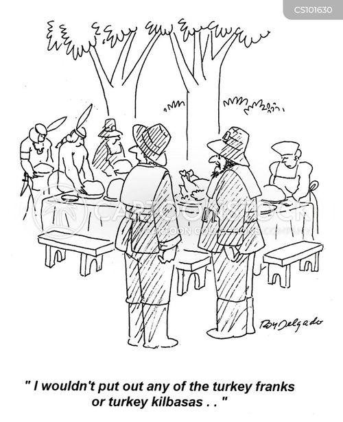 christams dinner cartoon