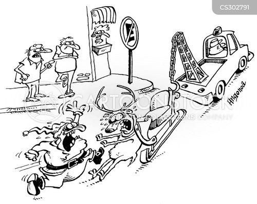 tow away zone cartoon