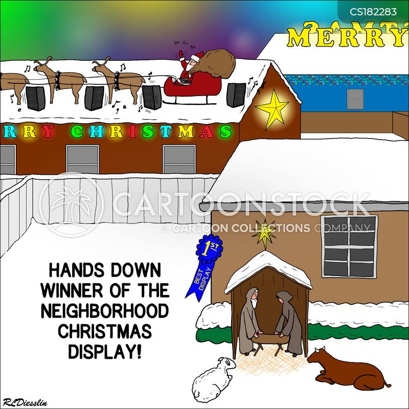 nativity scene cartoon