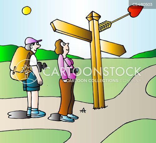 signposting cartoon