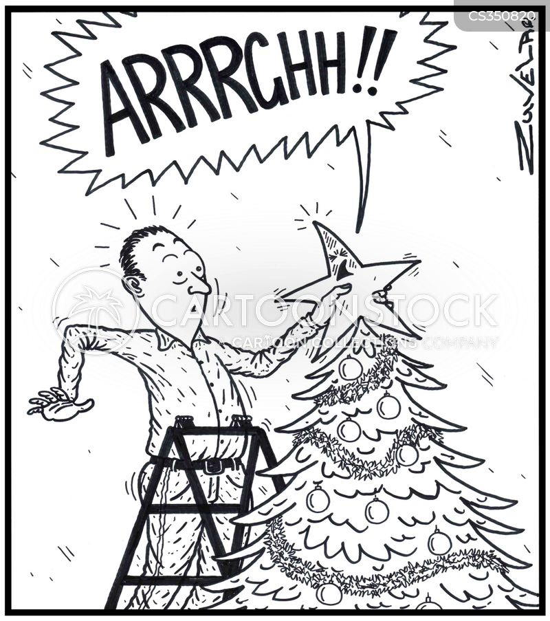 decorating trees cartoon