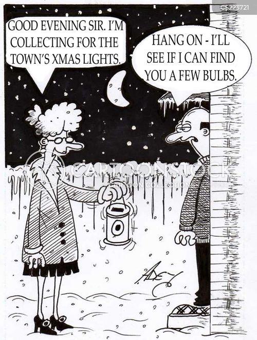xmas lights cartoon