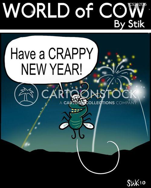new year celebrations cartoon