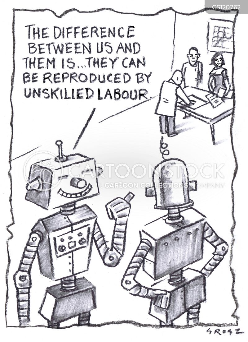 robot manufacturers cartoon