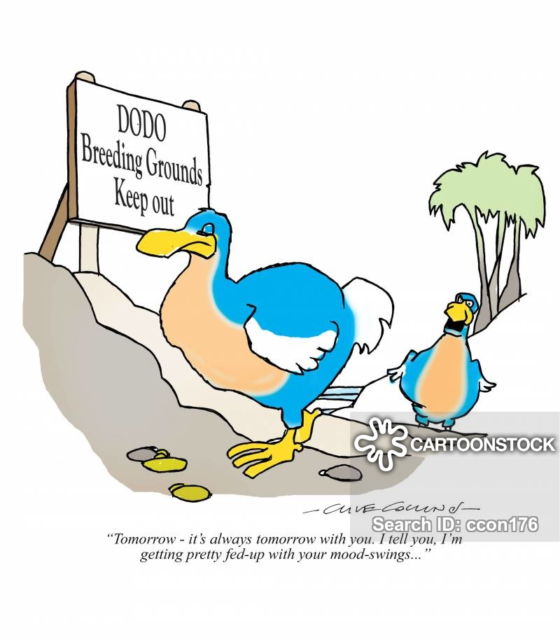extinction event cartoon