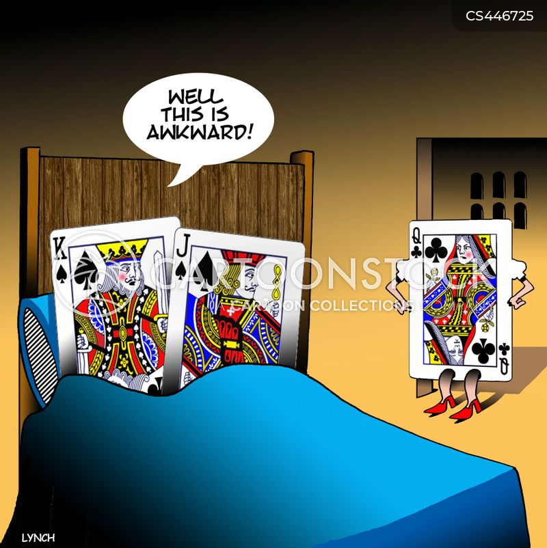 poker cards cartoon