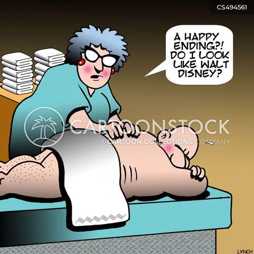 rub down cartoon