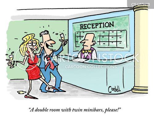hotel bar cartoon