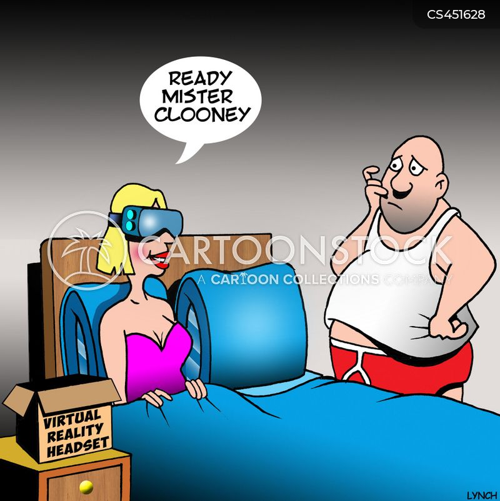 virtual reality headset cartoon