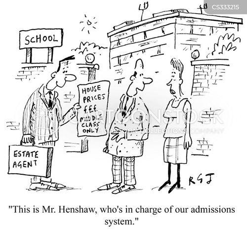 school admissions cartoon