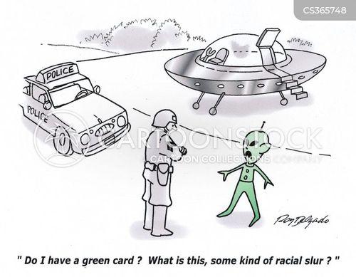 green cards cartoon