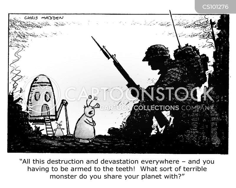 devastation cartoon