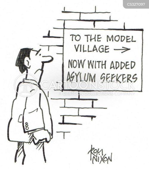 model village cartoon