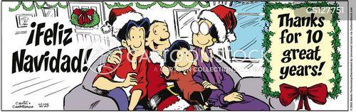 happy christmas cartoon