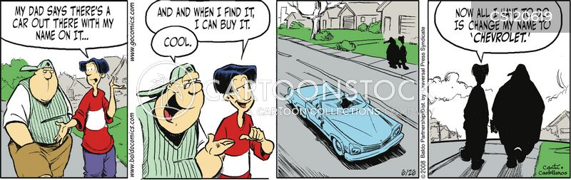 auto collector cartoon