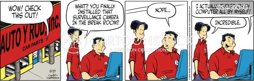 troubleshoots cartoon