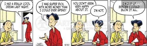 spends money cartoon