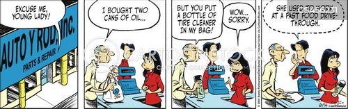 auto parts shops cartoon