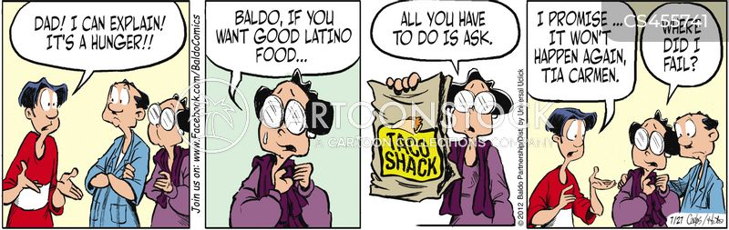 taco bag cartoon