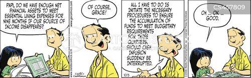 financial asset cartoon