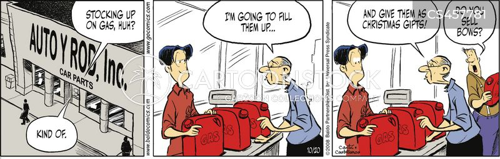 gas cans cartoon