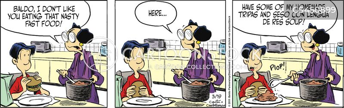 immigrant family cartoon