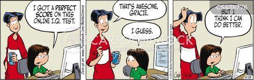 i.q. test cartoon