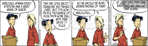 senses of humour cartoon