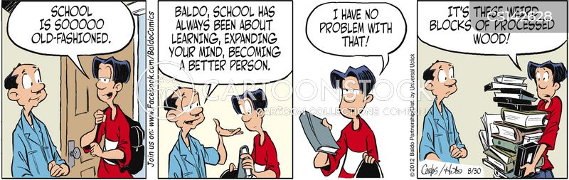 learning process cartoon