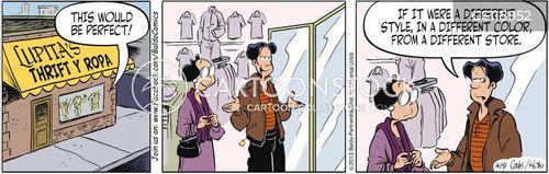 thrift shops cartoon