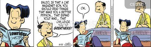 car magazines cartoon