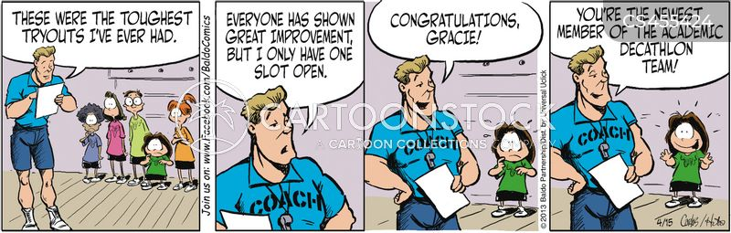 gym teachers cartoon