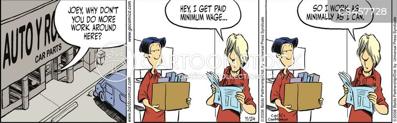 minimum wage jobs cartoon