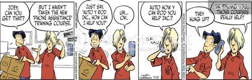 phone skills cartoon