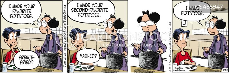 favourite dish cartoon