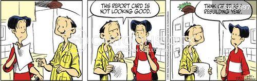 bad report cards cartoon