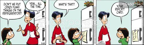 grade sheet cartoon