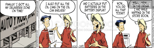 retail employee cartoon