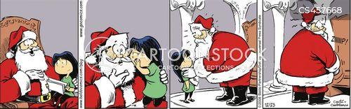 department store santas cartoon