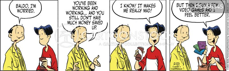 waste money cartoon