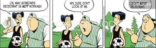 soccer practice cartoon