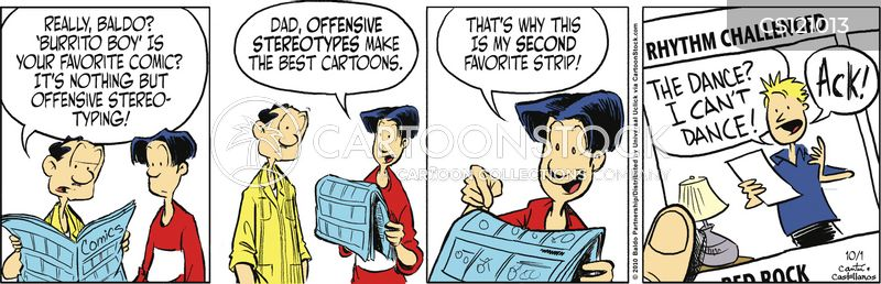 offensive stereotypes cartoon