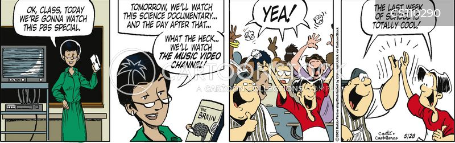 end of the school year cartoon