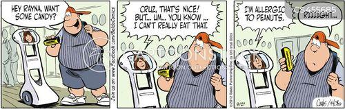 peanut allergy cartoon