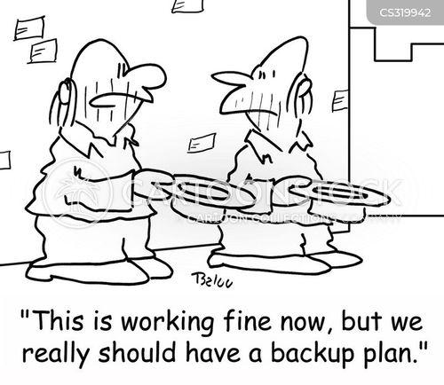 fall back plan cartoon