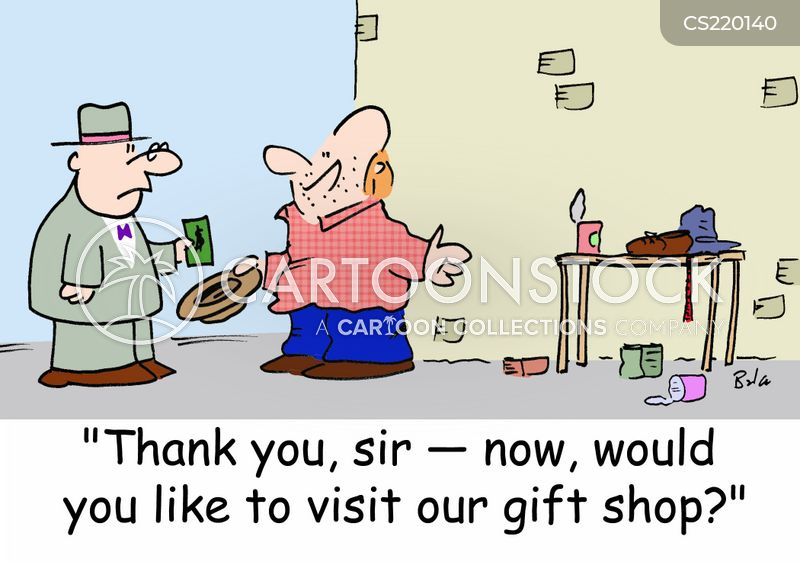 gift stores cartoon