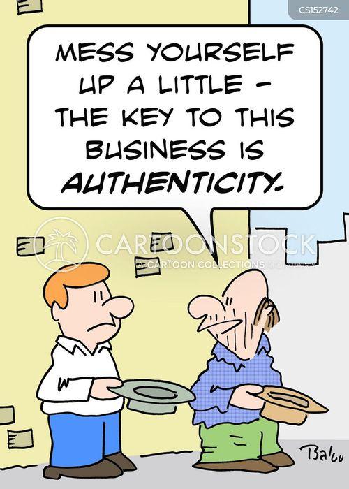 authenticity cartoon